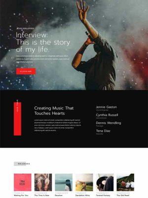 band website template