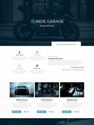garage services website template