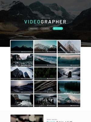 videographer website template